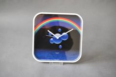 Vintage 80s wall clock Kienzle wall clock glass by MightyVintage