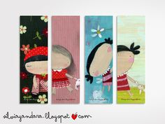 bookmarks - girls. $7.00, via Etsy.