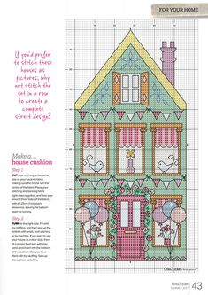 Cross Stitch House, Cross Stitch For Kids, Mini Cross Stitch, Cross Stitch Needles, Cross Stitch Kits, Cross Stitch Charts, Cross Stitch Designs, Cross Stitch Patterns, Cross Stitching