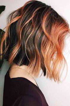 Hair Color 2017, Ombre Hair Color, Brown Hair Colors, Orange Brown Hair, Red Burgundy, Coral Hair, Peach Hair, Balayage Auburn, Balayage Hair