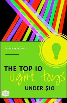 Our favorite light toys... and each is under $10! Great for kids with CVI! #CVIAwareness