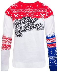 Harley Quinn: Daddy's Lil Monster Knitted Christmas Sweater/Jumper