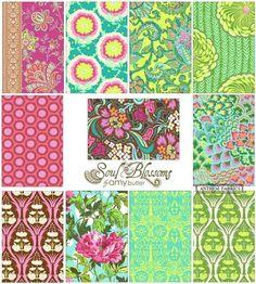 Soul Blossoms by Amy Butler Joy palette 1/2 by anthemfabrics, $48.40