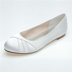 Women's Shoes Round Toe Flat Heel Satin Flats Wedding Shoes More Colors available – USD $ 37.99