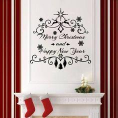 Christmas Wall Decals Holiday Decor Vinyl Stickers Decoration Home Decor SM214