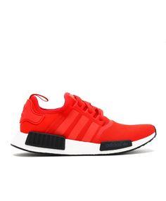 818aba7a4454e adidas nmd r1 · Chaussure Adidas NMD R1 Rouge Clair Noir Blanche BB1970