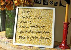 Wipe Off Weekly Menu Board | Make and Takes