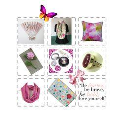 Fashion set Sweet in Pink created via Vintage Gifts, Etsy Vintage, Vintage Shops, Handmade Art, Handmade Items, Handmade Gifts, Love Holidays, Cameo Jewelry, Winter Time