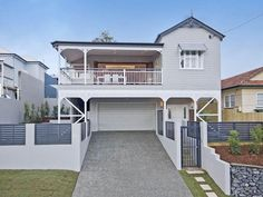 Very much so for our felllow Queenslanders today. Even though the flood levels are stil. House Exterior Color Schemes, Exterior Colors, Queenslander House, Local Painters, Ocean Colors, Colours, Looking For Houses, Edwardian House, Character Home