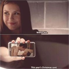 This years Christmas Card - Delena - TVD - The Vampire Diaries IF ONLY THIS WOULD HAVE HAPPENED!