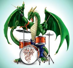 Ultimate Dragon Rock Band Figurine Collection - Drummer