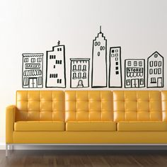 Scribble City Building Kit HUGE Decal Sticker by decomodwalls, $60.00