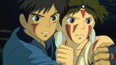 """There are things worth living for."" The key to Hayao Miyazaki's classic 'Princess Mononoke' is in one quote. Art Studio Ghibli, Studio Ghibli Movies, Studio Ghibli Characters, Anime Characters, Hayao Miyazaki, Film Anime, Manga Anime, Totoro, Princess Mononoke Characters"