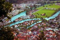 tilt-shift photo of interlaken, switzerland - Imgur