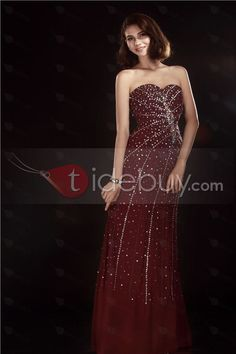 Pretty Floor-Length Column Sequins Olga's Evening Dress