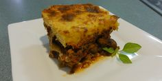 Moussaka is a Middle Eastern dish, the main ingredients of which are Eggplant, and Beef. The meat sauce isn't too far removed from a fairly typical Bolognese, but its unique range of spices really bring it into its own.