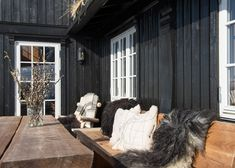 Seterbrun hytte I Winter veranda I Wintertuin I Winter porch I Winter garden