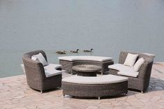 Bailey 5 Piece Outdoor daybed - modern - outdoor sofas - by north88 outdoor