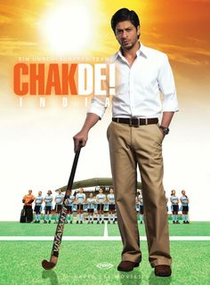 Find more movies like Chak de! India to watch, Latest Chak de! India Trailer, Kabir Khan is the coach of the Indian Women's National Hockey Team and his dream is to make his all girls team emerge victorious against all odds. Srk Movies, Movies To Watch Hindi, Hindi Movies Online, Good Movies, 2017 Movies, Drama Movies, Chak De India, Indian Movies Bollywood, Bollywood Posters