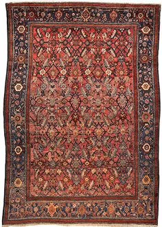 Senneh rug Northwest Persia circa 1900 size approximately 4ft. 10in. x 6ft. 5in.