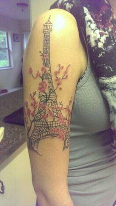 My Eiffel Tower tattoo Baby Tattoos, Wrist Tattoos, Love Tattoos, Tattos, Color Tattoos, Amazing Tattoos, Tour Eiffel, Henna Designs, Tattoo Designs