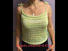Top ai ferri facilissimo 🧶🧶 - YouTube Crochet Top, Lana, Tops, Youtube, Women, Fashion, Iron, Moda, Fashion Styles