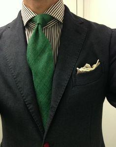 Mean green continues.   Boglioli SC Finamore shirt Panta tie Ralph Lauren PS Hierbas de Ibiza