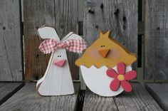 Easter Wood Block Mini Stacker spring holiday di jodyaleavitt