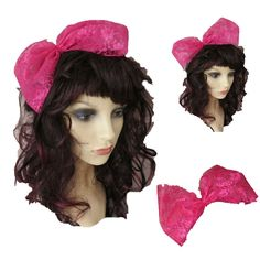 BIG side hair bow LARGE HAIR BOW oversized spotty//polka dot hair bow REDUCED