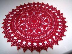 PDF Crochet Patterns -Valentine Ring of Hearts Crochet Doily Pattern PDF format