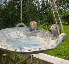 Bird Baths, Pottery Ideas, Creatures, Clay, Ceramics, Garden, Outdoor Decor, Crafts, Clays