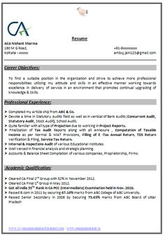 Professional Curriculum Vitae Sample Template of a Fresher ...