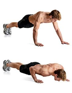 1. Staggered Hands Pushup