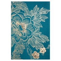 Lhasa Lotus - Teal Canvas Wall Art - 24W x 36H in. - 40-012