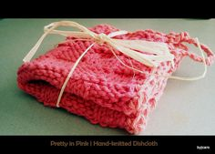 Berry Basket HandKnitted Dishcloth  Berry Melon by DesignsByCaro, $6.50