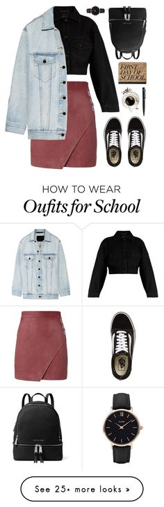 """Untitled #212"" by fanfanfann on Polyvore featuring Michelle Mason, Yves Saint Laurent, Vans, MICHAEL Michael Kors, CLUSE, John Lewis and Alexander Wang"
