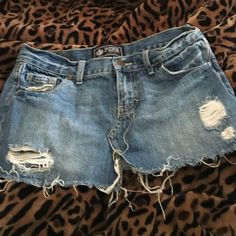 VS PINK brand frayed /distressed denim mini skirt Pink brand frayed/distressed denim mini skirt .. 2 side pockets and 2 back pockets PINK Victoria's Secret Skirts Mini
