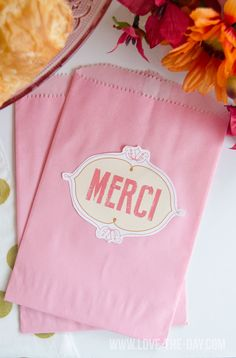 Paris Themed Party Decorations and FREE Printables by Love The Day