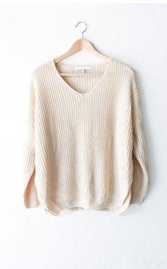 - Description Details: Super soft & comfy, relaxed fit knit v-neck sweater…