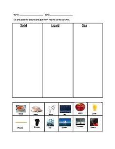 math worksheet : identifying states of matter solid liquid gas  worksheets  : Solid Liquid Gas Worksheet For Kindergarten