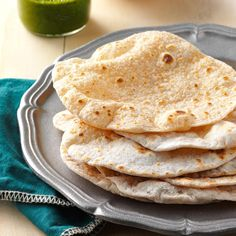 Chapati Breads Recipe -My daughter and I used to make this Indian flatbread frequently. It's so fun and goes well with any spiced dish. We use the extras to make sandwich wraps. — Joyce McCarthy, Sussex, Wisconsin