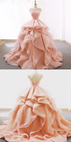 Alluring Lace & Organza Satin Jewel Neckline Ball Gown Wedding Dresses With Bead. - - Alluring Lace & Organza Satin Jewel Neckline Ball Gown Wedding Dresses With Beadings Source by wittychar Dresses Elegant, Cute Prom Dresses, Sweet 16 Dresses, Pretty Dresses, Wedding Dresses, Lace Weddings, Bridal Gowns, Bridesmaid Gowns, Long Dresses