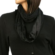 Luxurious Velvet Lace Wide Loop Circle Chain Eternity Infinity Scarf Chain Black SK Hat shop http://www.amazon.com/dp/B009HC5WNM/ref=cm_sw_r_pi_dp_2sinub031CPNG