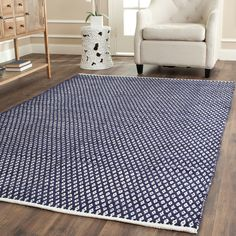 Using Moroccan inspired designs with a plush 0.4-inch pile height, this soft cotton rug is a welcoming touch of cushion to your tired feet.
