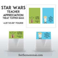 Star wars themed teacher appreciation week party amazon gift card cute star wars printable bag toppers for teacher gifts teacherappreciation solutioingenieria Images