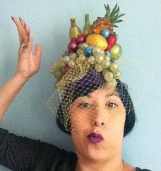 Carmen Miranda Fruit Pillbox Cocktail Hat by ChefBizzaro on Etsy