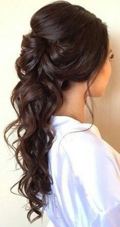 Long hairstyle for wedding