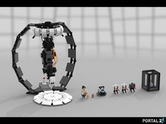 Portal: Still Alive Set Overview. Lego Mecha, Lego Bionicle, Portal Art, Aperture Science, Lego Boards, Video Game Memes, Lego Design, Custom Lego, Lego Building