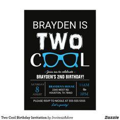 Second birthday invitation two cool birthday party invitation hip cool birthday invitation black filmwisefo