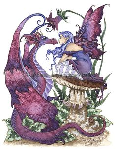 The fairy and the dragon by Amy Brown